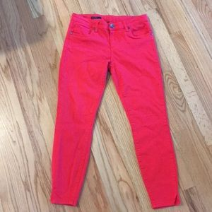 Kut from the Kloth Bright Red Ankle Skinny Jeans